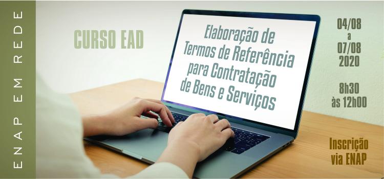 Enap oferta curso sobre elaboração de termos de referência para contratação de bens e serviços
