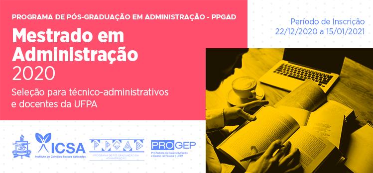 Últimos dias para inscrições no Mestrado em Administração destinado aos servidores da UFPA