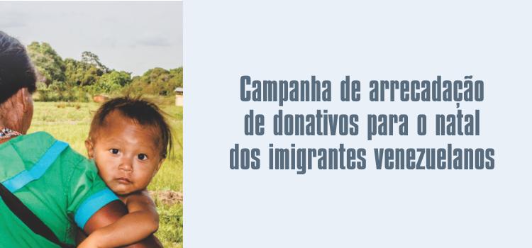 Progep lança campanha de arrecadação de doações para refugiados venezuelanos