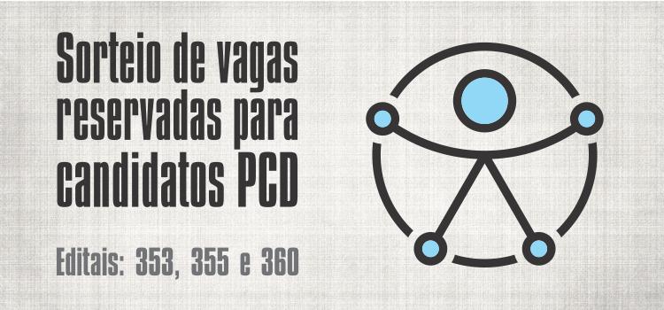PROGEP divulga data para sorteio das vagas reservadas para candidatos PCD nos Editais nº 353, 355 e 360