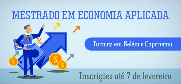 Vagas para servidores no curso de Mestrado em Economia Aplicada, parceria PROGEP e ICSA.