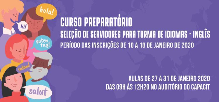 Inscrições abertas para o curso preparatório de inglês voltado para servidores