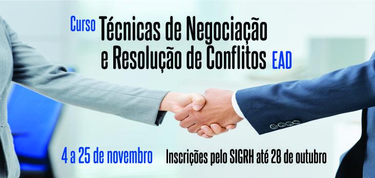 Capacit oferece o curso Técnicas de Negociação e Resolução de Conflitos na modalidade EaD