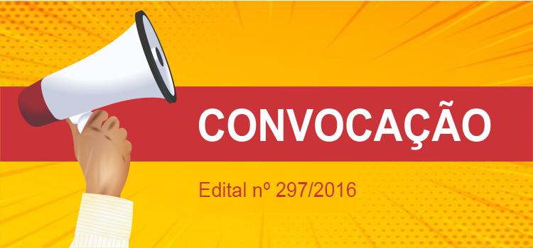 Convocação 029/2019 - Edital 297/2016