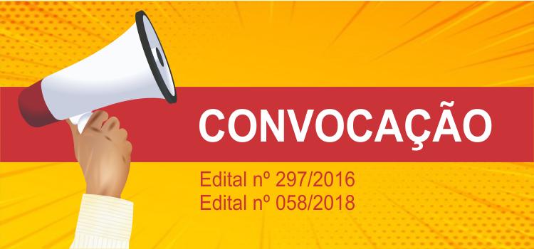 Convocação 009/2019 - Editais 297/2016 e 58/2018