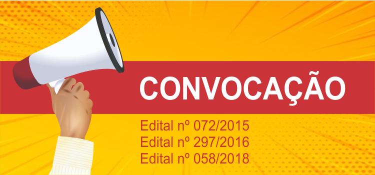 Convocação 010/2019 - Editais 72/2015 e 297/2016