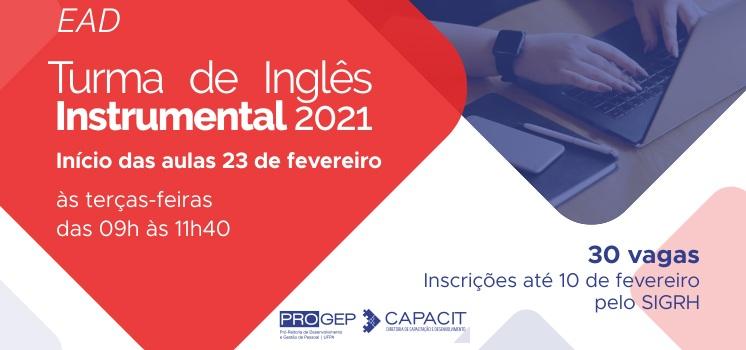 Inscrições abertas para Curso de Inglês Instrumental EaD para servidores da UFPA